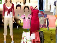 Menschliche Barbie Einkleiden