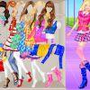 Schülerin Barbie Einkleiden