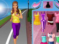 Barbie beim Joggen